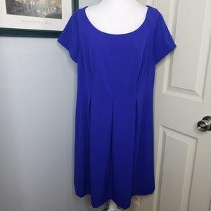 Dressbarn Royal Blue Exposed Zipper Dress Plus